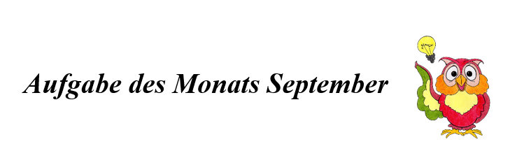 Aufgabe Des Monats September
