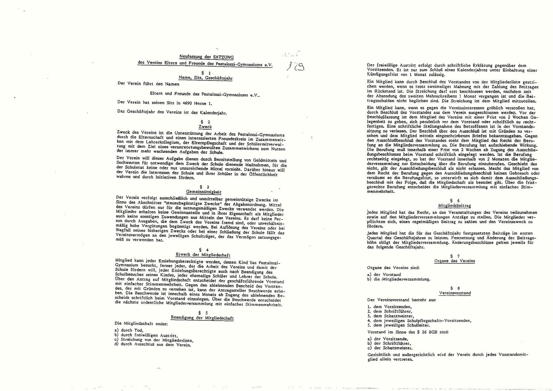Förderverein Satzung 1