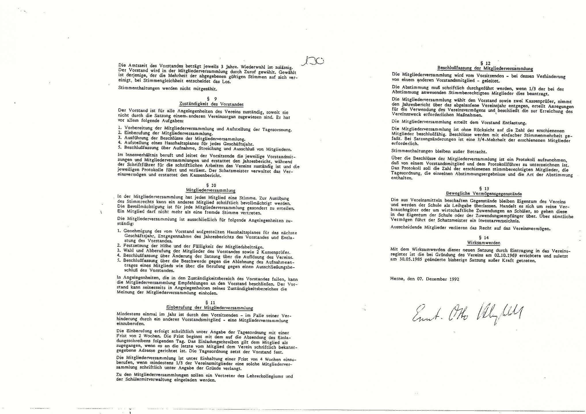 Förderverein Satzung 2
