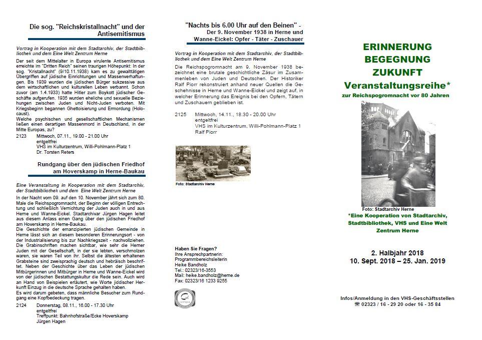 Vhs Ausstellung Erinnerung 2018 Flyer Seite 1