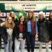 PG-Schülerinnen und -Lehrkräfte beim Volleyball-Bundesligaspiel in Münster