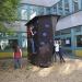 Eröffnung des Boulderwürfels im Atrium-Innenhof