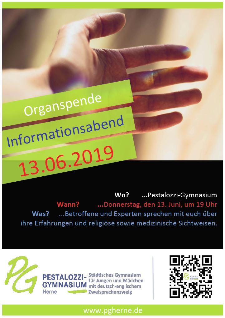 Infoabend Organspende 13 06 2019 Plakat