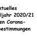 Angepasster Schulbetrieb in Corona-Zeiten – Stand 19.9. (Sa.) 18.10 h