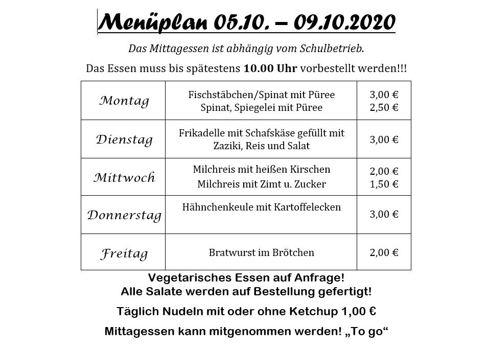 2020 10 05bis09 Menueplan Pestro