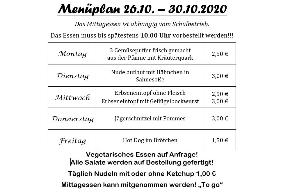 2020 10 26bis30 Menueplan Pestro