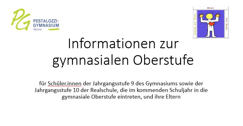 Information Zur Gymnasialen Oberstufe Am PG