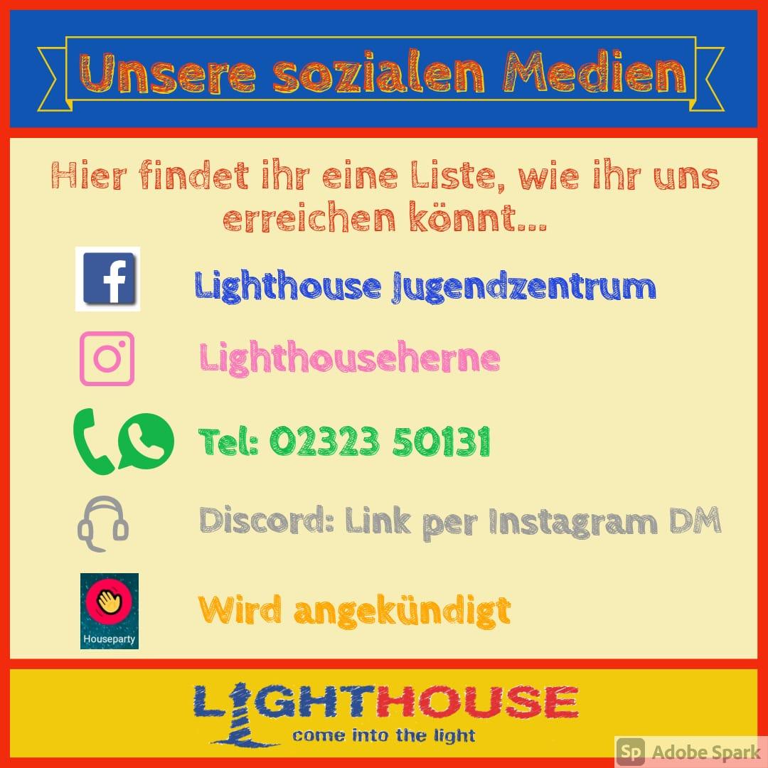 Sozial Medien Kontakthinweis LH