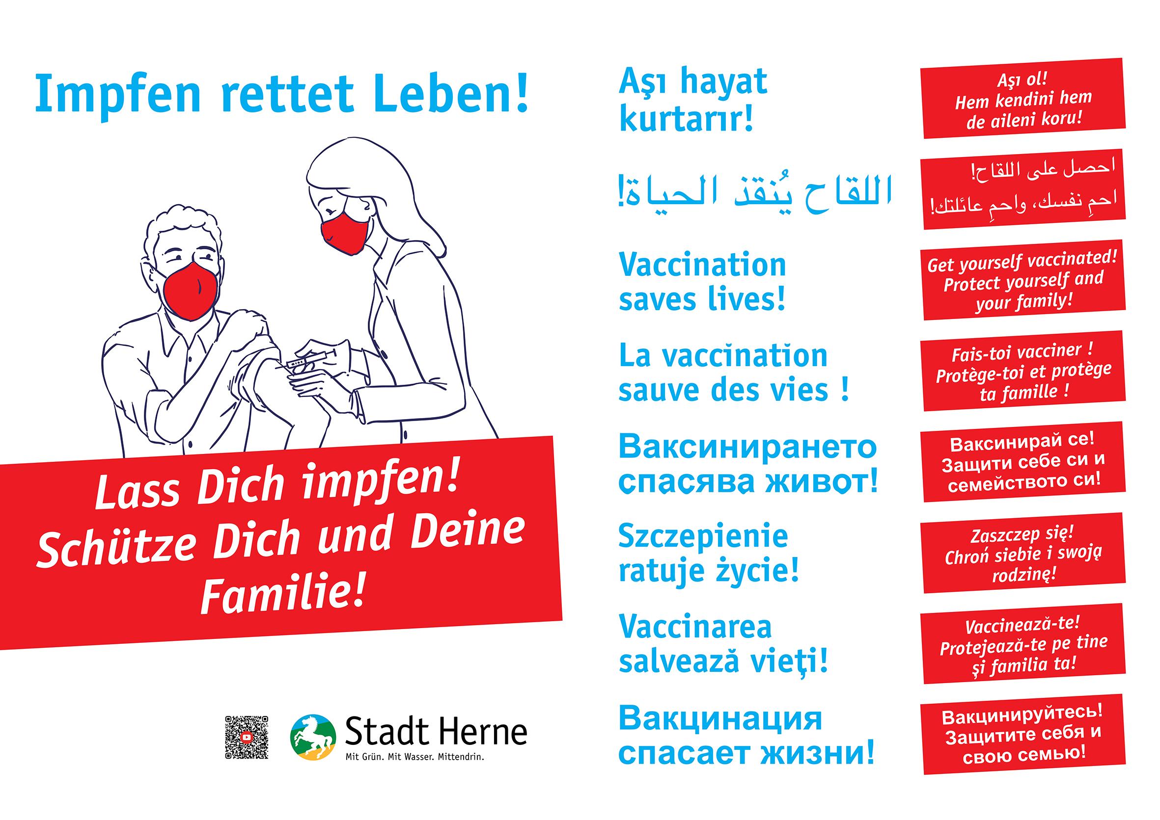 Corona Impfen Plakat
