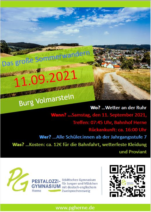 Sommerwandern 11 09 2021 Plakat