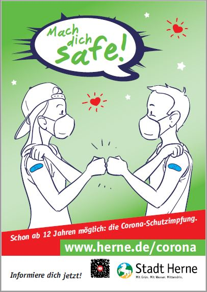 Impfkampagne Für Jugendliche Ab 12 Plakat